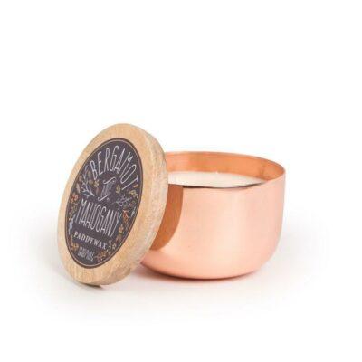 Bergamot & Mahogany 3-Wick Copper Candle