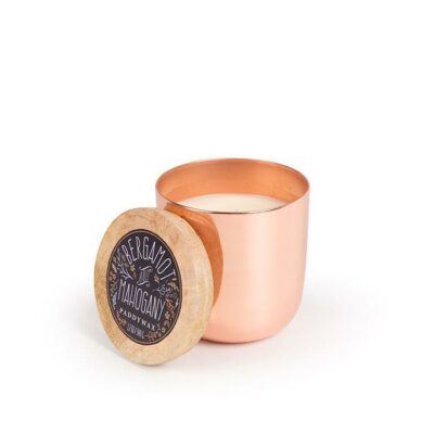 Bergamot & Mahogany Copper Candle