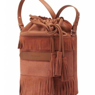 Bucket Bag Formentera Rust Suede ... 9d3e0a4ae4902