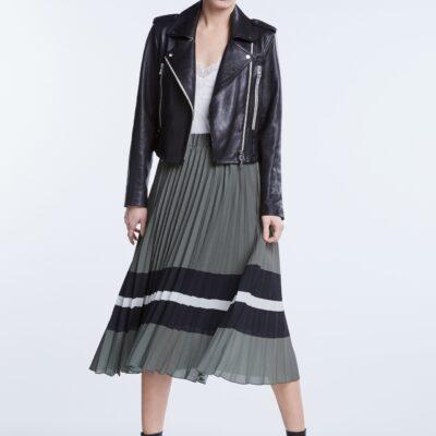 Plisée Skirt with colour blocks