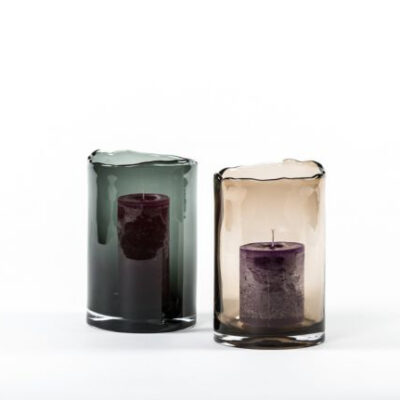 Brown Small Hurricane Organic Rim Vase