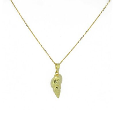 Shell Horn Necklace Gold