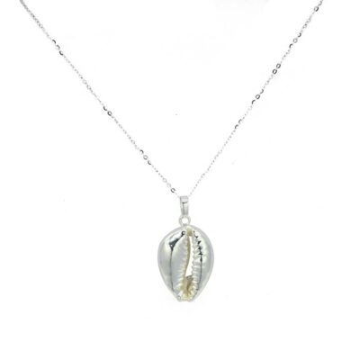 Shell Pendant Necklace Silver