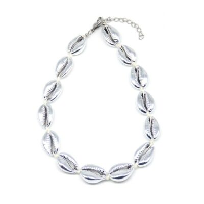 Shell Necklace Full Silver