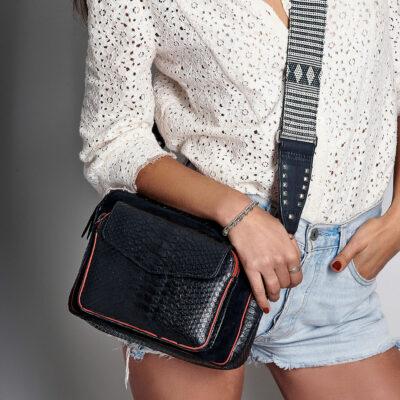 Big Charly Bag Black Color Zip