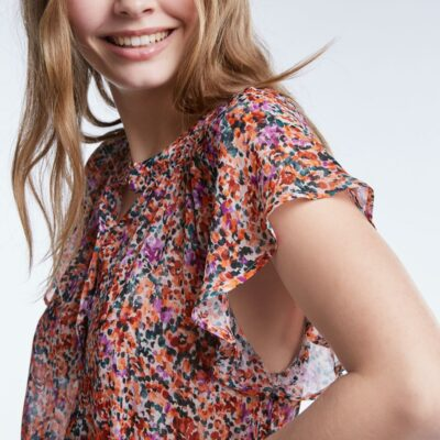 Blouse With Mille Fleurs Pattern