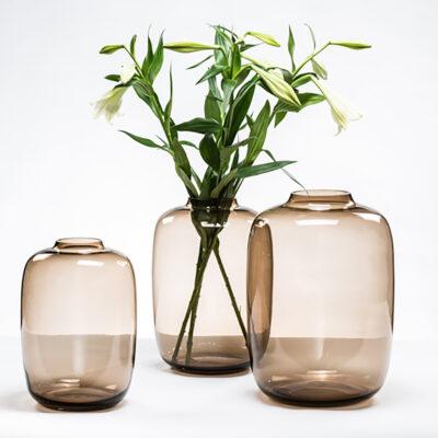 Large Bulb Vase Mocha