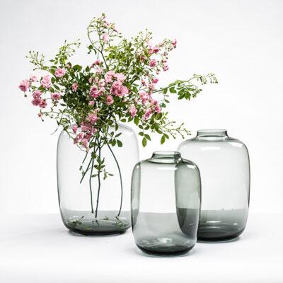 Large Bulb Vase Smoke
