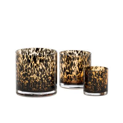 Large Vase Leopard Spotted