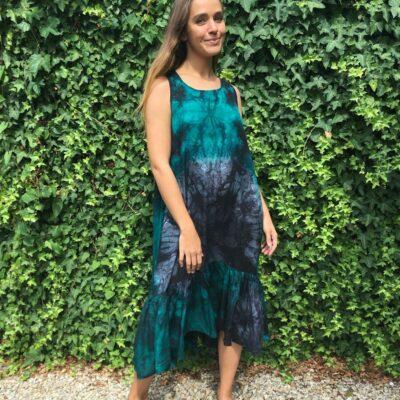 Tie Dye Racer Dress 2