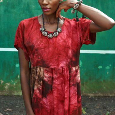 Tie Dye Tiered Dress 16
