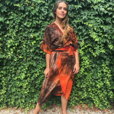 Tie Dye Wrap Dress 12