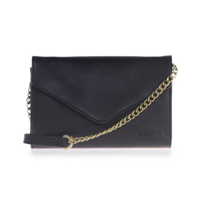 Josephine with Chain – Black Classic Leather