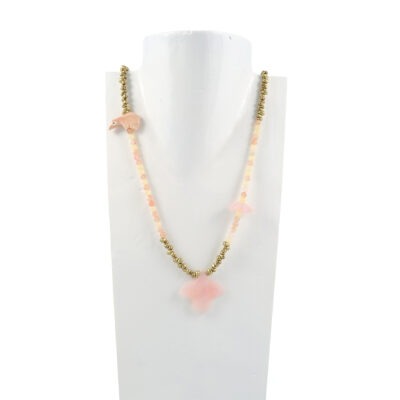Necklace Rose Quartz Eagle
