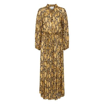 Snake LS Maxi Dress