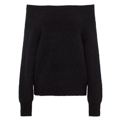 Galis Knit Off Shoulder Black