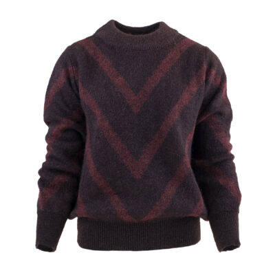 Angela Sweater Aubergine / Bordeaux