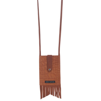 Smarty Fringes Croco Camel