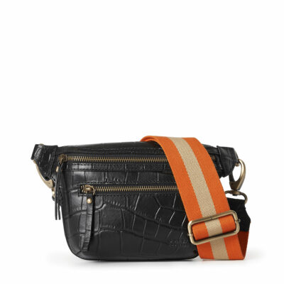 Beck's Bum Bag – Black Croco