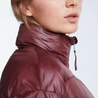 Quitled Jacket with stand-up collar