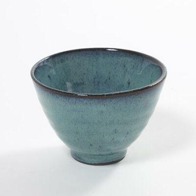11 x 7.5 cm Turquoise Stoneware Conic Aqua Cup