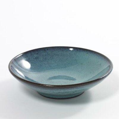 15 x 3.5 cm Turquoise Stoneware Aqua Flat Cup