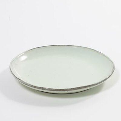 22 x 3 cm Stoneware Aqua Dessert Plate