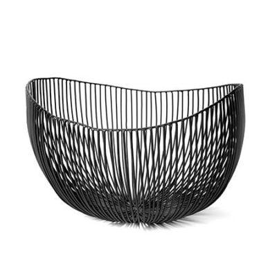 Deep Tale Metal Sculptures Basket Black