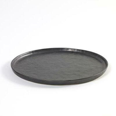 Medium Black Ceramics Pure Plate