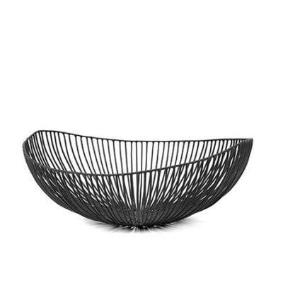 Meo Metal Sculptures Basket Black