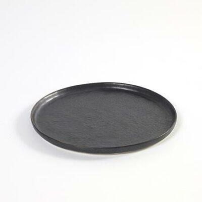 Small Black Ceramics Pure Plate