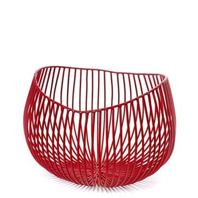 Metal Sculptures Basket – Small Red