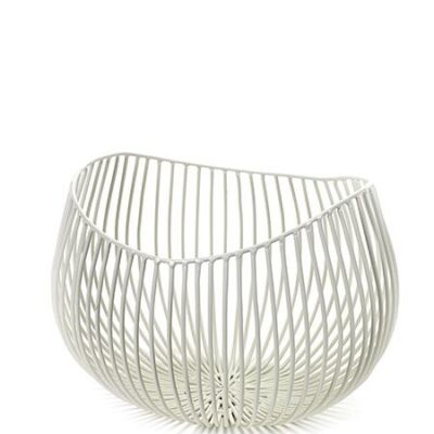 Metal Sculptures Basket – Small White