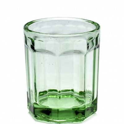 22cl Medium Transparent Green Fish and Fish Glass