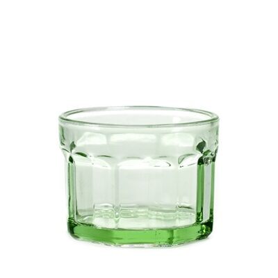 16cl Small Transparent Green Fish and Fish Glass