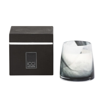 Cèdre Thé Vert  black and white waves Scented Candle