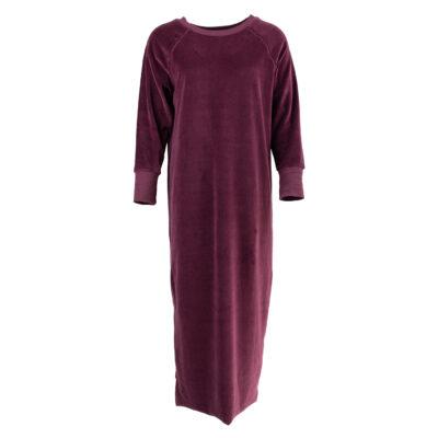 Castilla Long Dress Aubergine
