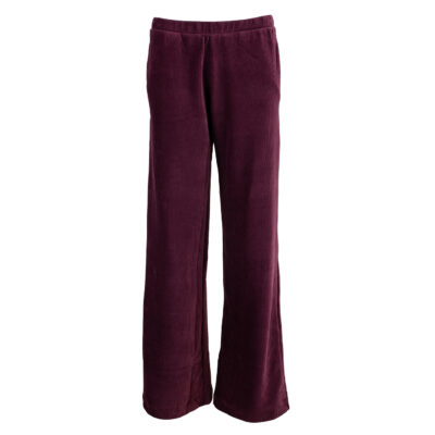 Rio Largo Velour Pants Aubergine