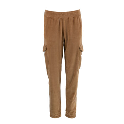 Sorolla Caramel Velour Cargo Pants