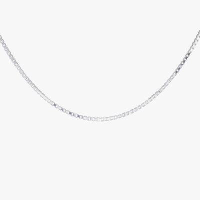Box Choker Silver – 36 cm