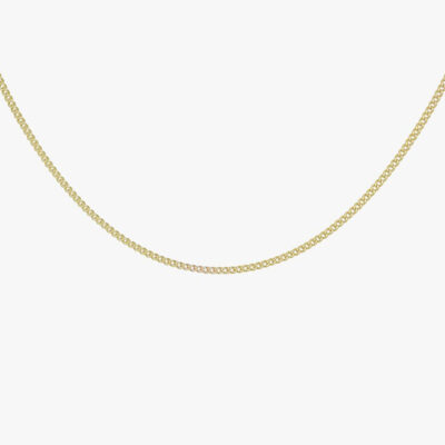 Curb Chain Necklace Gold – 45 cm