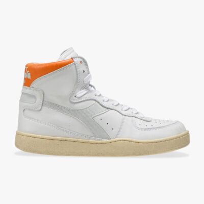 Diadora Heritage Mi Basket – White / Orange