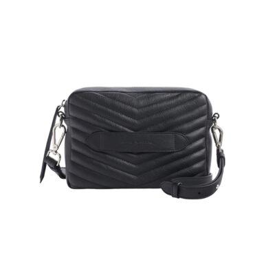 Bento –Quilted Shoulder Bag – Black