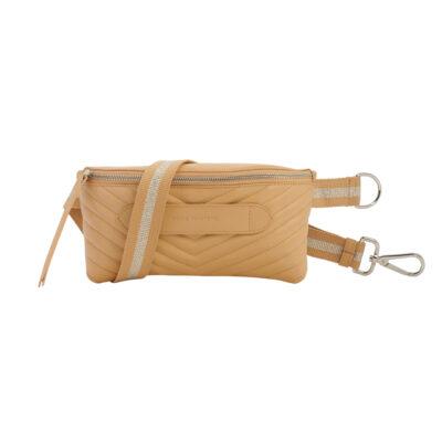 Coachella – Quilted Beige Belt Bag