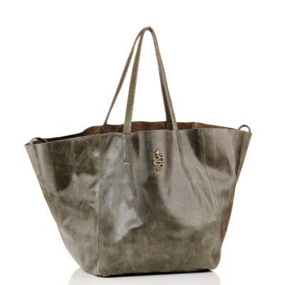 Leather Tote Felix – Khaki