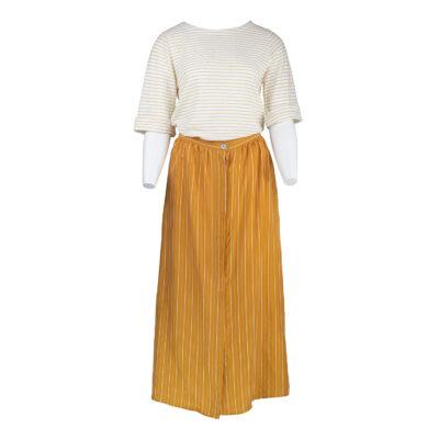 Lou Button Skirt – Mustard