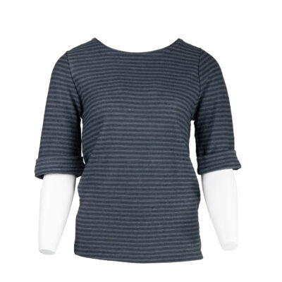 Narcisso Linen Stripes Sweater – Black
