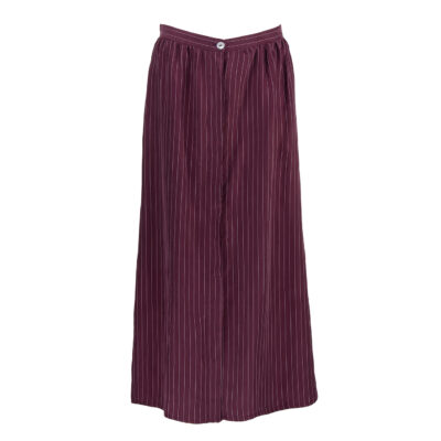 Lou Button Skirt – Aubergine