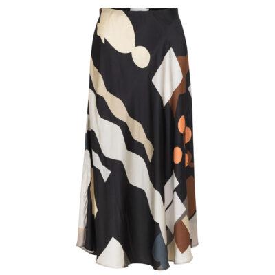 Eastvale Midi Skirt – Black