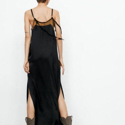 Karelia Slip Dress – Black